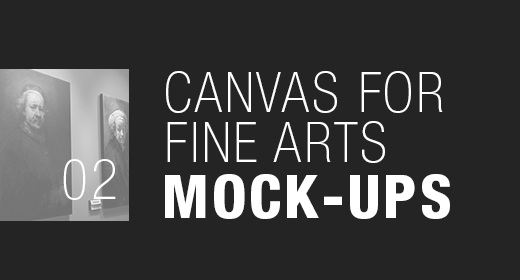 Canvas for Fine Arts Mock-Ups