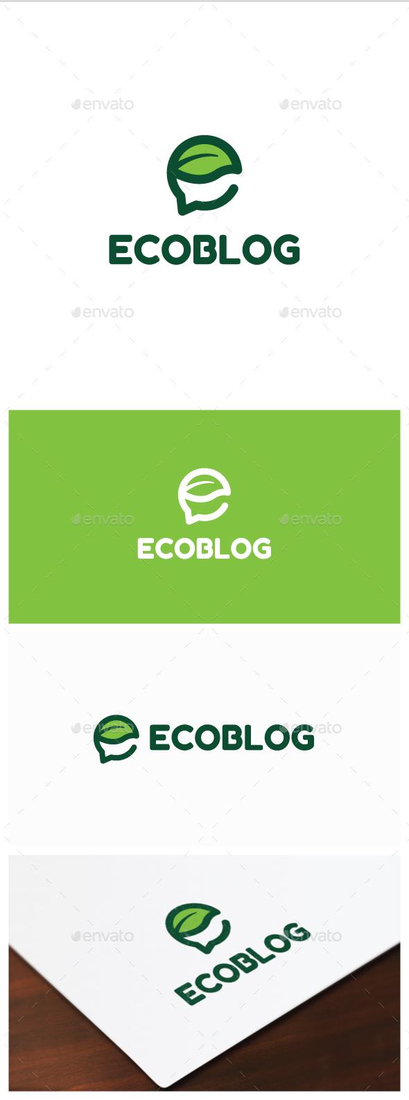 Eco Blog Logo - Nature Logo Templates