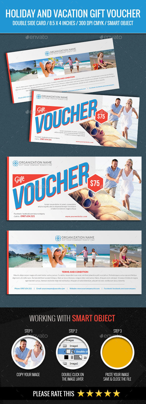 Holiday and Vacation Gift Voucher - Loyalty Cards Cards & Invites