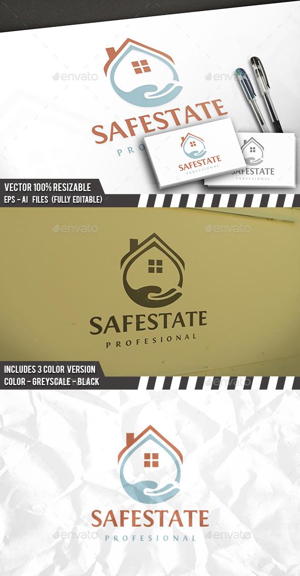 Safe Real Estate Logo - Buildings Logo Templates