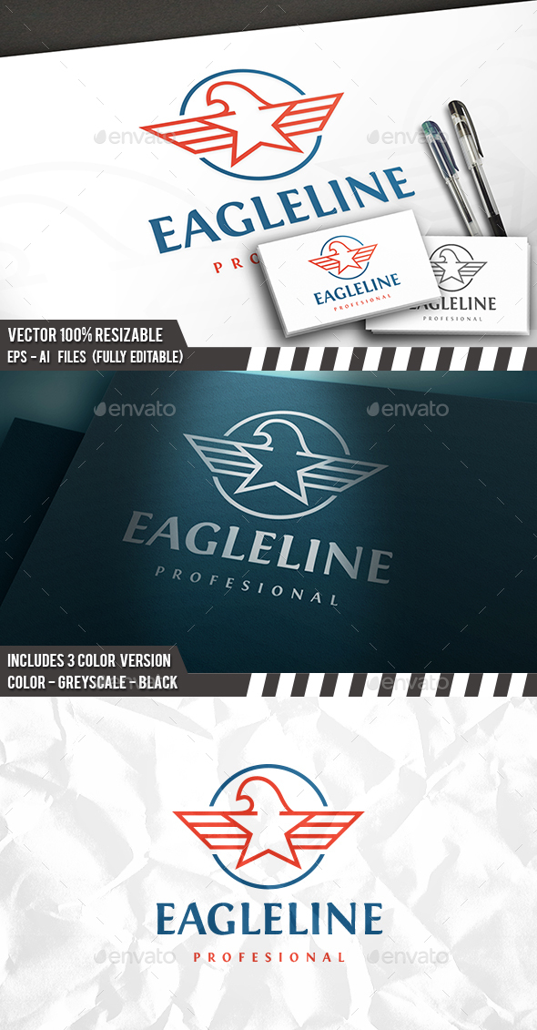 Eagle Star Logo - Animals Logo Templates