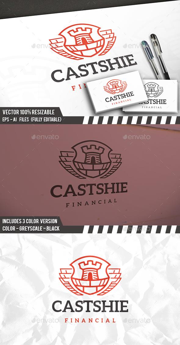 Castle Shield Logo Template - Crests Logo Templates