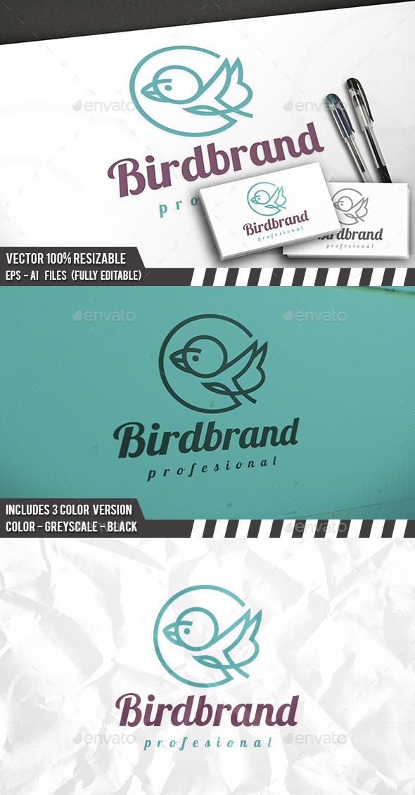 Bird Line Logo - Animals Logo Templates
