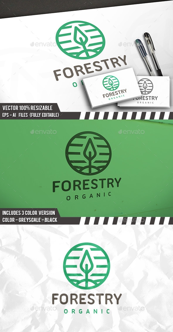 Tree Circle Logo - Nature Logo Templates