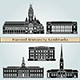 Harvard University Landmarks and Monuments - GraphicRiver Item for Sale