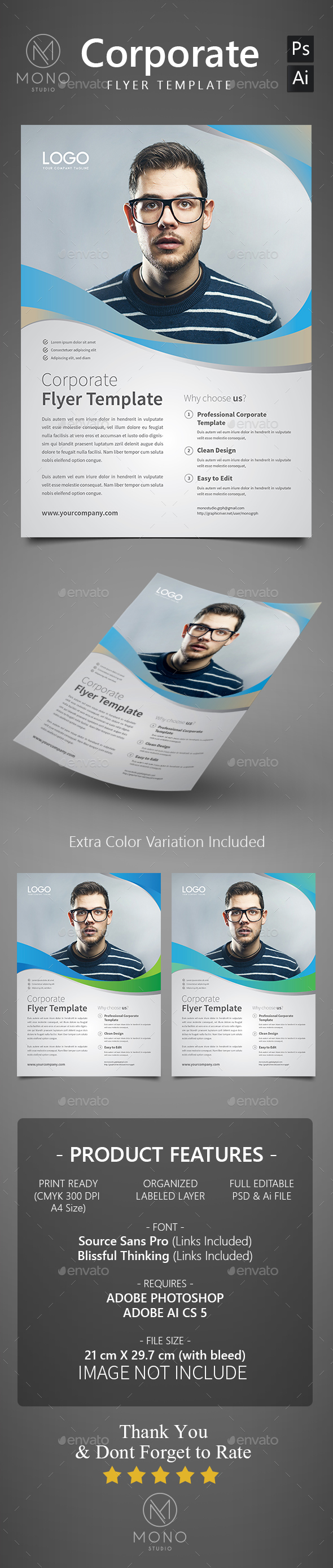 Corporate Flyer Template Set 7 - Corporate Flyers