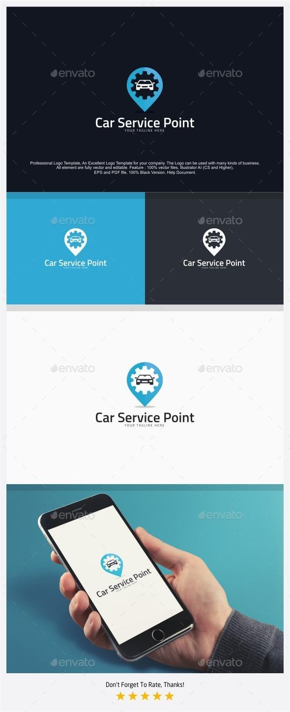 Auto Car Service Point Logo - Objects Logo Templates