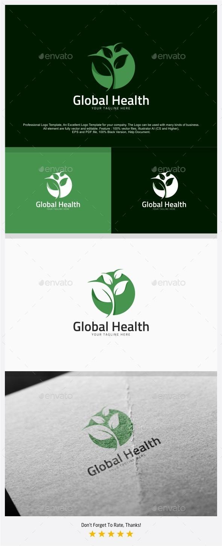Global Nature Health Logo - Symbols Logo Templates