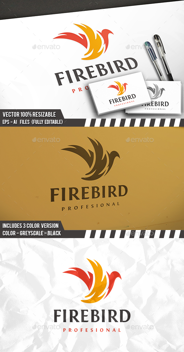 Fire Bird Logo - Vector Abstract