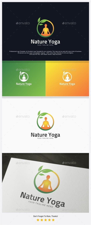 Nature Yoga Logo - Nature Logo Templates