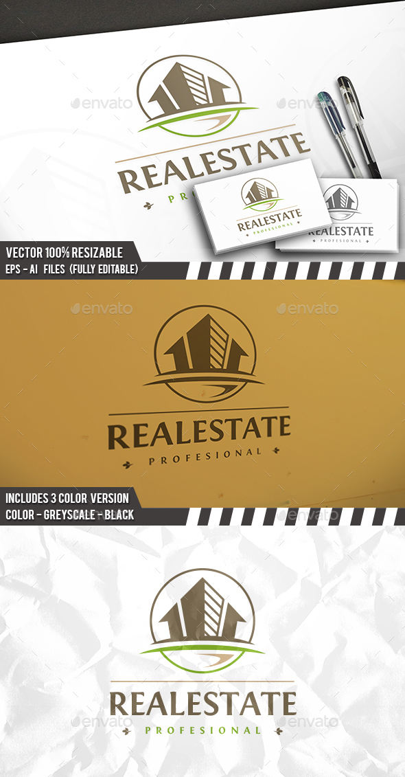 Real Estate Success Logo - Buildings Logo Templates