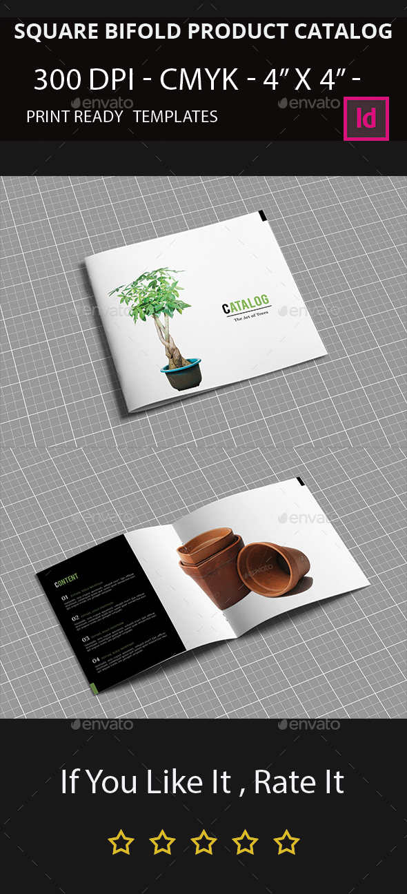 Square BiFold Product Catalog I Indesign Brochure Template By - Bi fold brochure template indesign