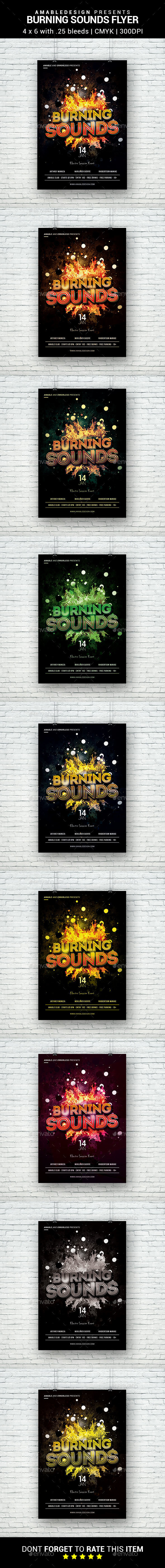 Burning Sounds Flyer - Clubs & Parties Events