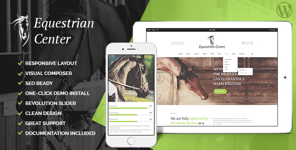 Equestrian Centre & Horse-riding School WP Theme