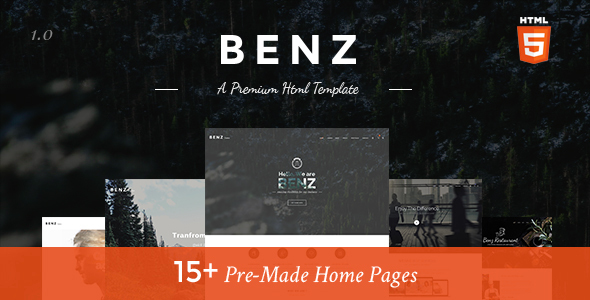 Benz – Amazing Creative Multi-Purpose HTML Template