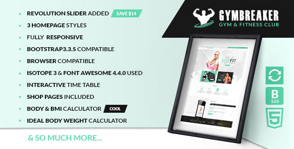 Gym Breaker – Fitness & Gym html template