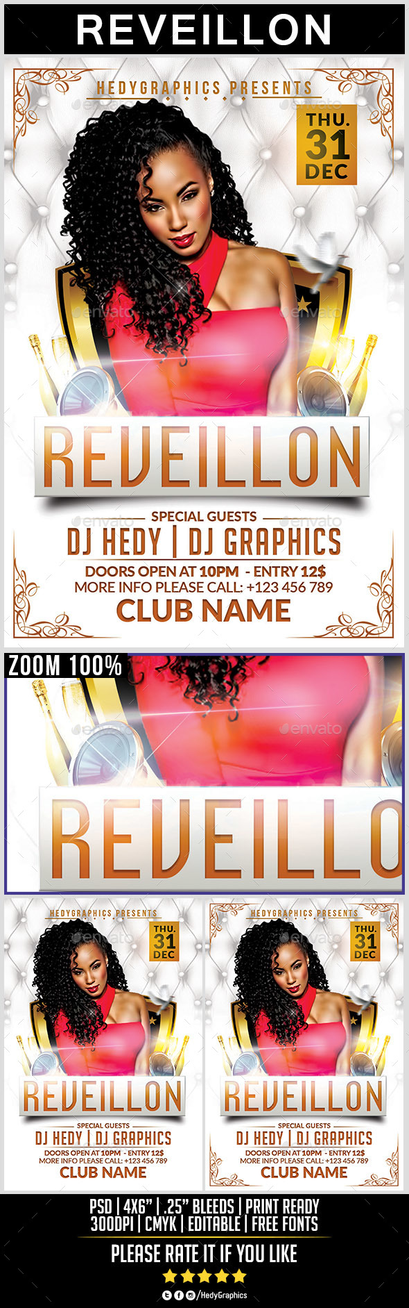 Reveillon - Flyer Template - Holidays Events