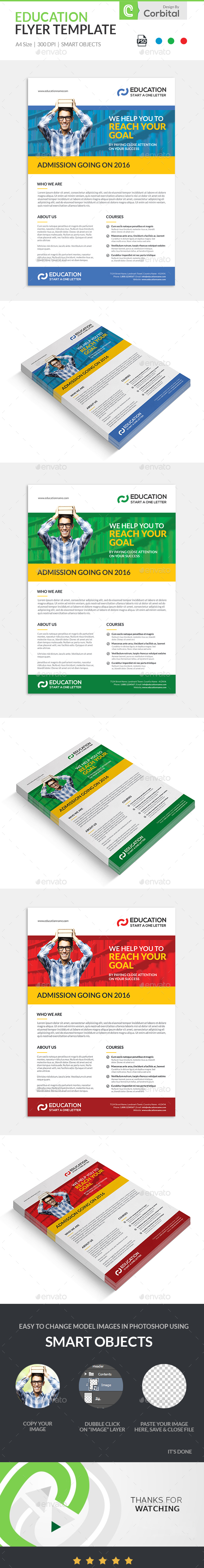 Education Flyer Template - Corporate Flyers