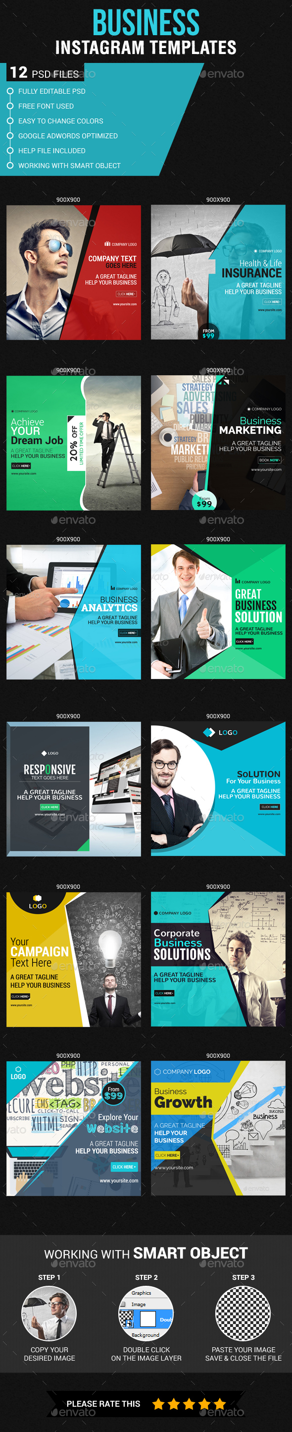 Corporate Business Instagram Banners - Banners & Ads Web Elements