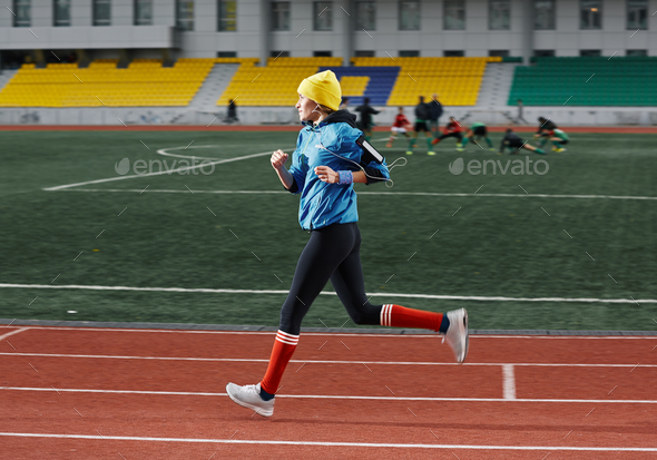 Woman running - Stock Photo - Images