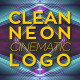 Clean Neon Cinematic Logo - VideoHive Item for Sale