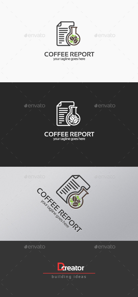 Coffee Report Logo - Food Logo Templates