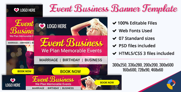 GWD | Event & Party Banners - 7 Sizes - CodeCanyon Item for Sale