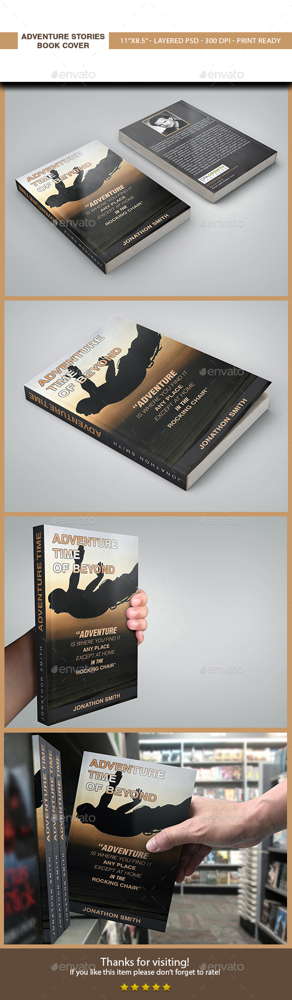 Adventure Stories Book Cover. - Miscellaneous Print Templates
