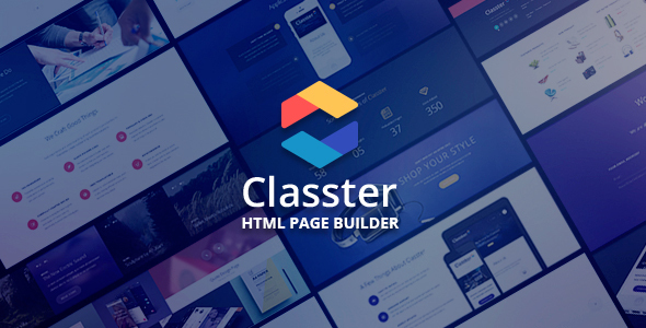 Classter - Landing Page Set With Page Builder