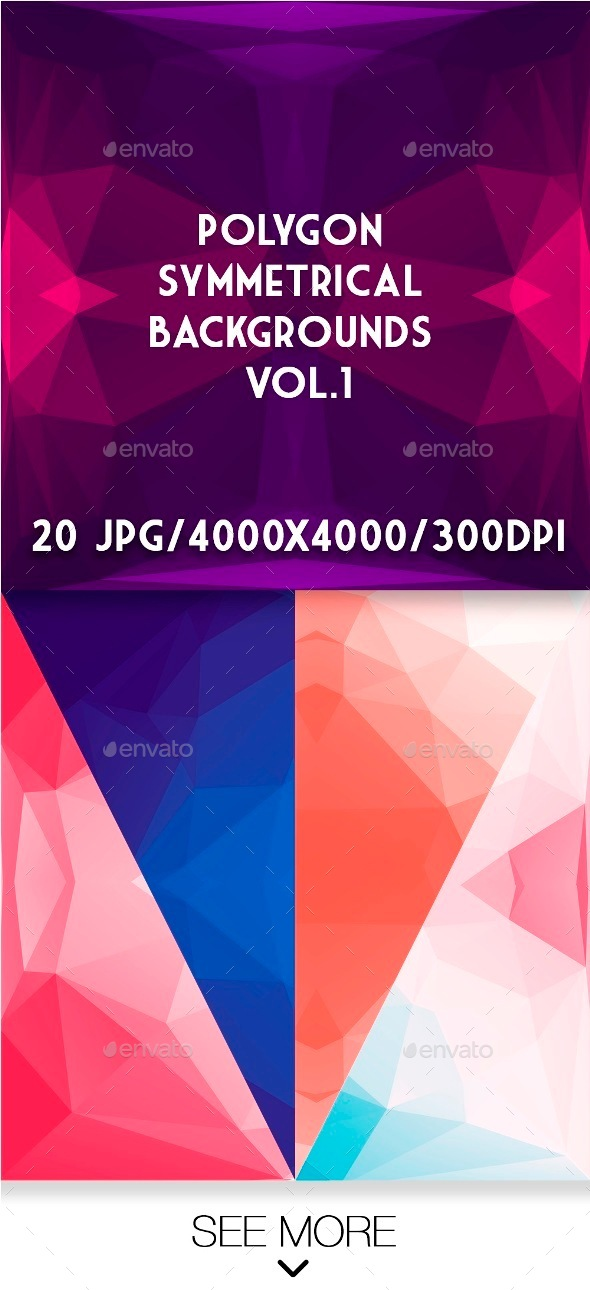 Polygon symmetrical backgrounds Vol.1 - Abstract Backgrounds