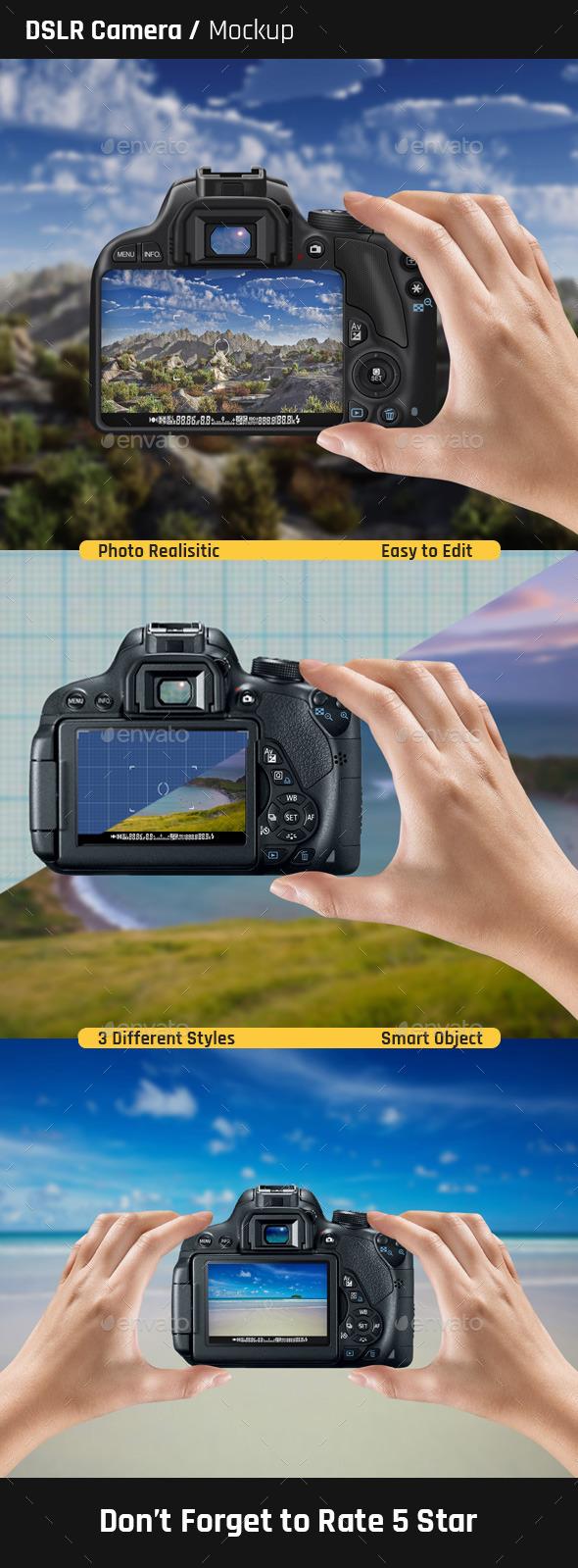 DSLR Camera Mock-Ups - Miscellaneous Product Mock-Ups