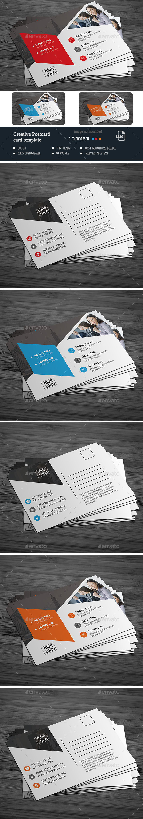 Creative  Postcard Template - Cards & Invites Print Templates