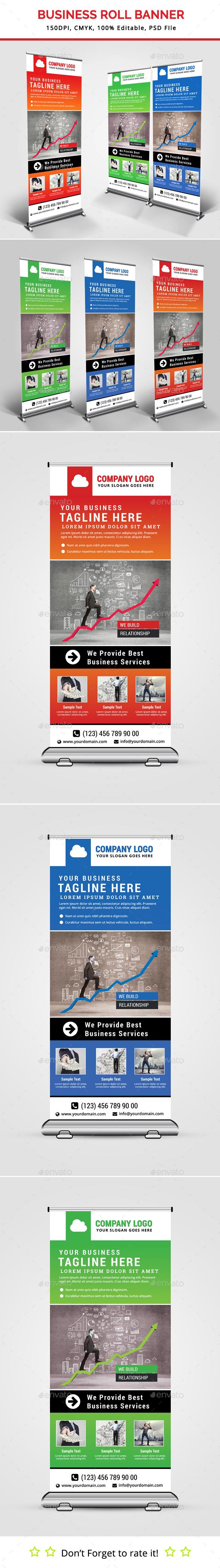Business Roll Up Banner V22 - Signage Print Templates