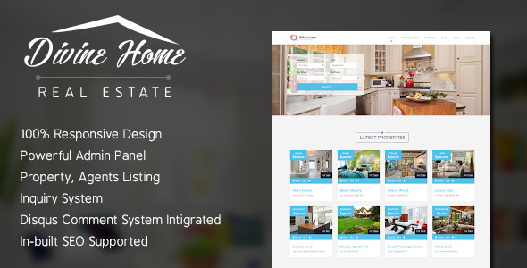 Divine Home - Real Estate Portal - CodeCanyon Item for Sale