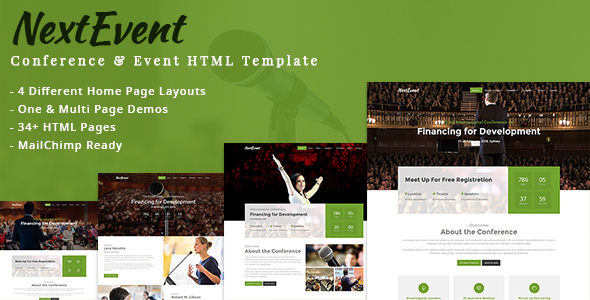 NextEvent – Conference & Event HTML Template