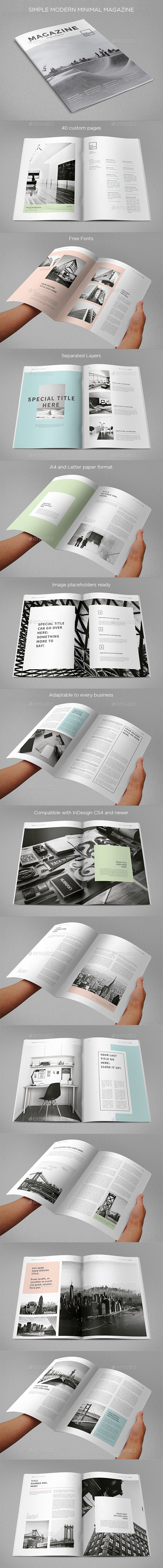 Simple Minimal Clean Magazine - Magazines Print Templates