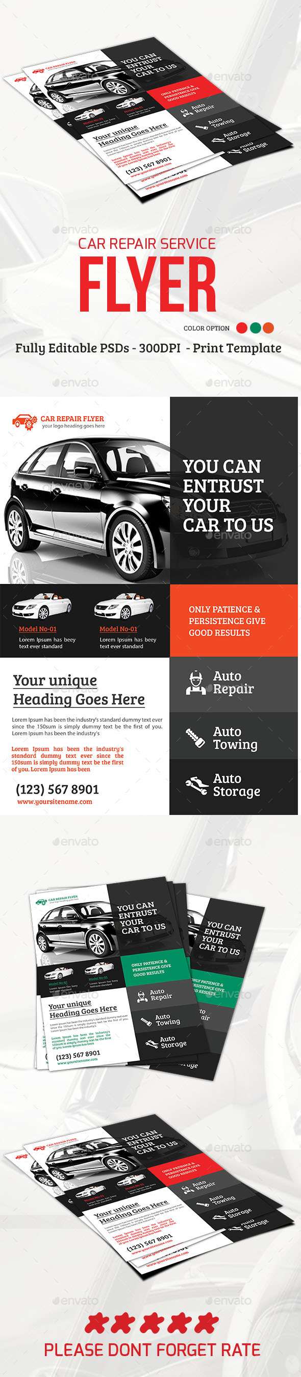 Car Repair Service Flyer - Flyers Print Templates