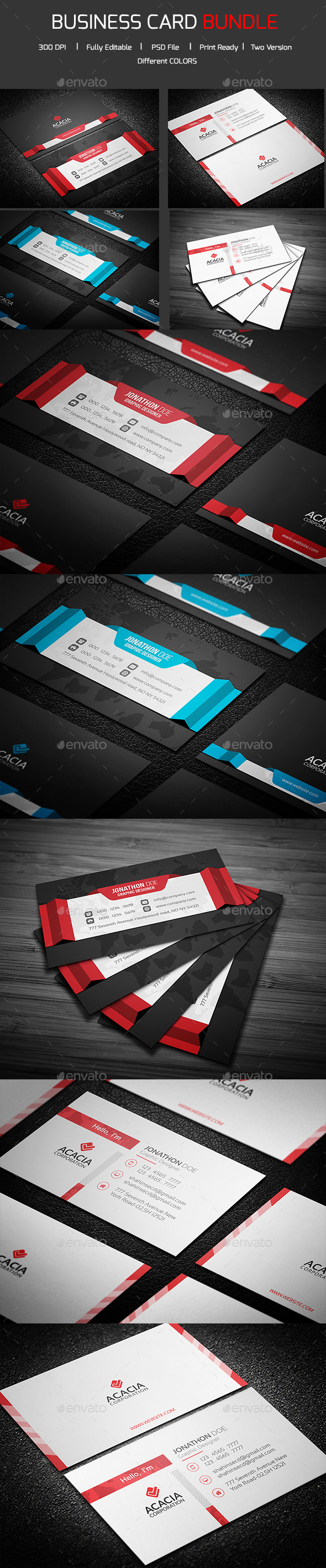Bundle- 2 in 1 Business Card_09 - Corporate Business Cards