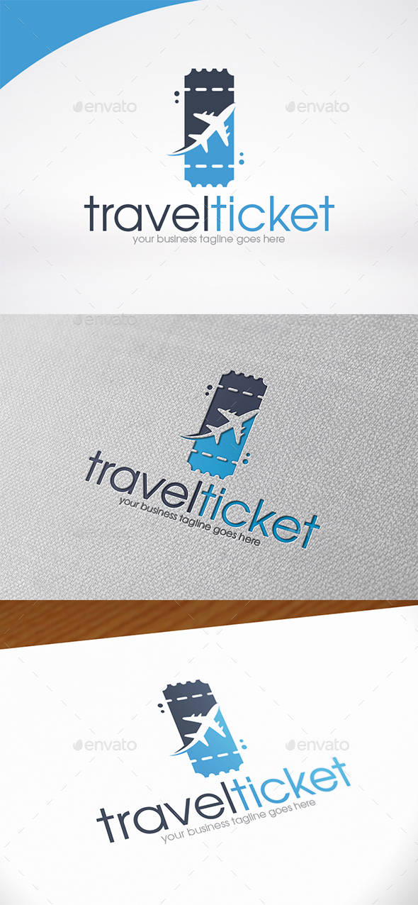 Travel Ticket Logo Template - Objects Logo Templates