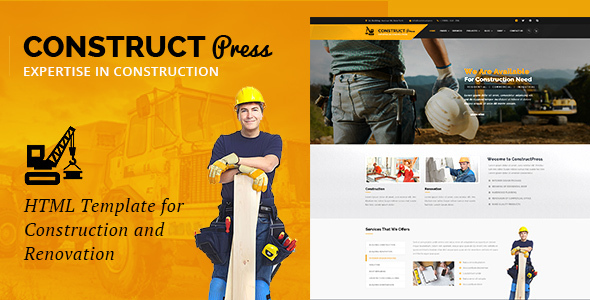 Construct Press – Construction and Renovation HTML Template