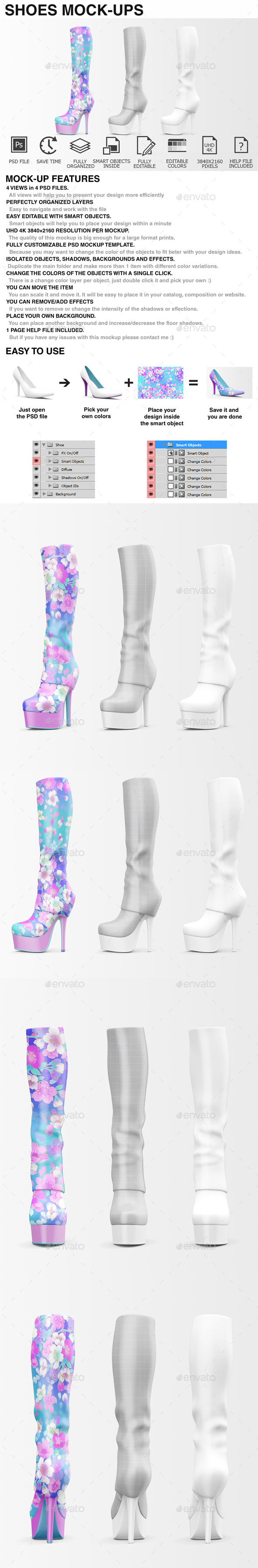 Shoes Mockup - Woman Shoes Mockup Edition - Miscellaneous Apparel