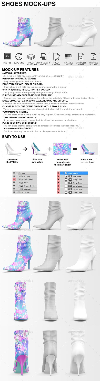 Shoes Mockup - Woman Shoes Mockup Edition - Miscellaneous Apparel