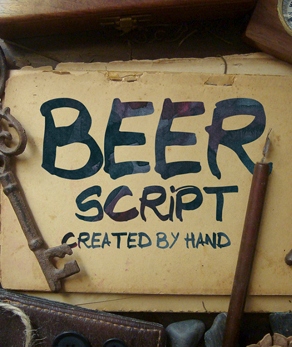 Beer Script Typeface - Handwriting Fonts