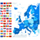 Map and Flags of Europe  - GraphicRiver Item for Sale