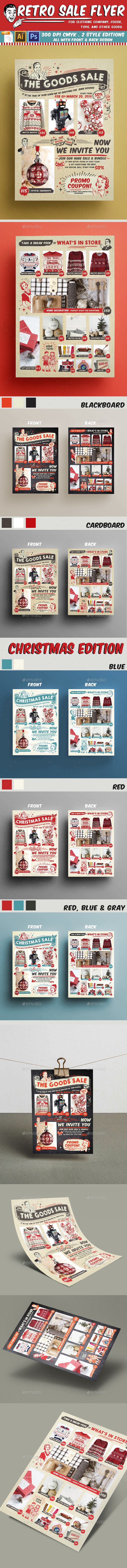 Retro Sale Flyer - Flyers Print Templates