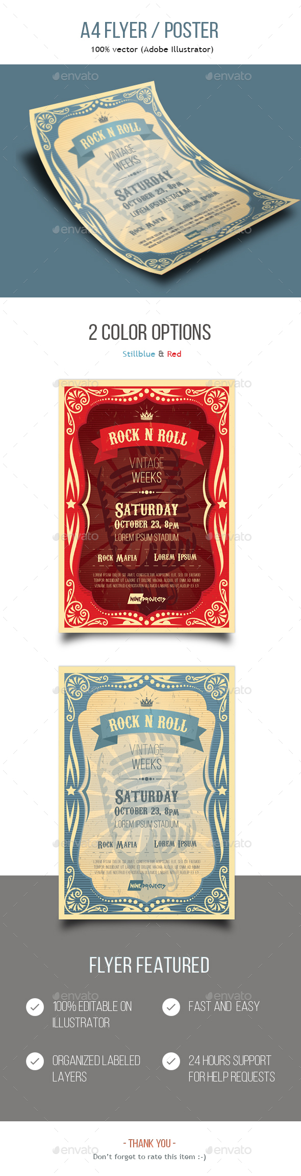 Vintage Music Flyer - Events Flyers