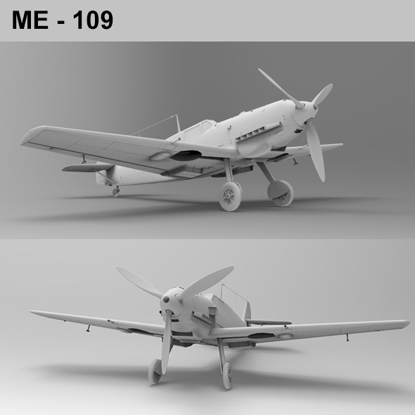 ME 109 Fighter Aircraft - 3DOcean Item for Sale