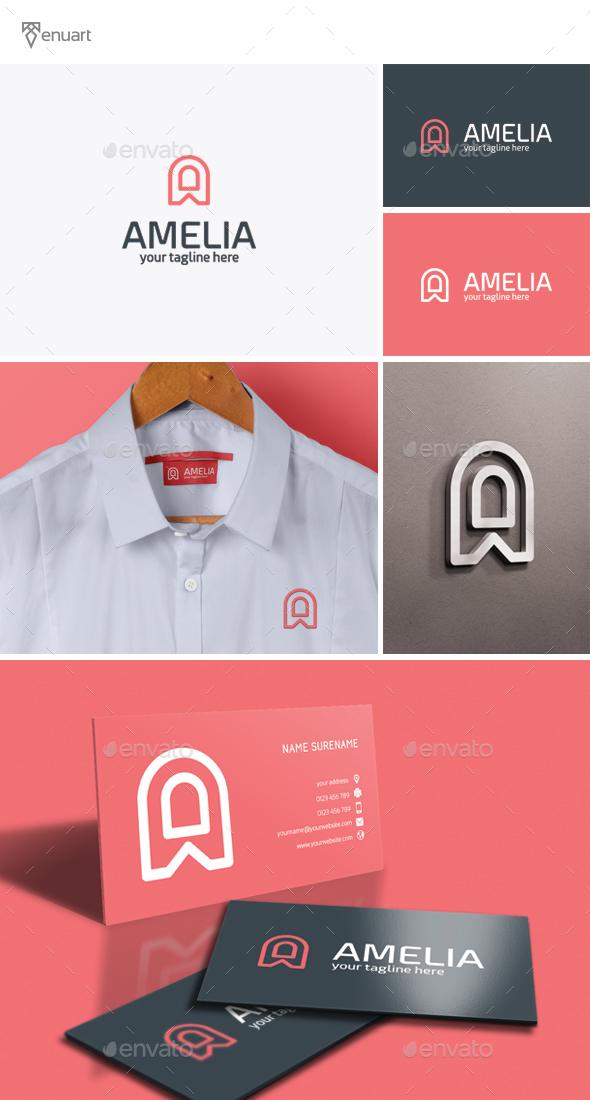 Amelia - Letter A Logo - Letters Logo Templates