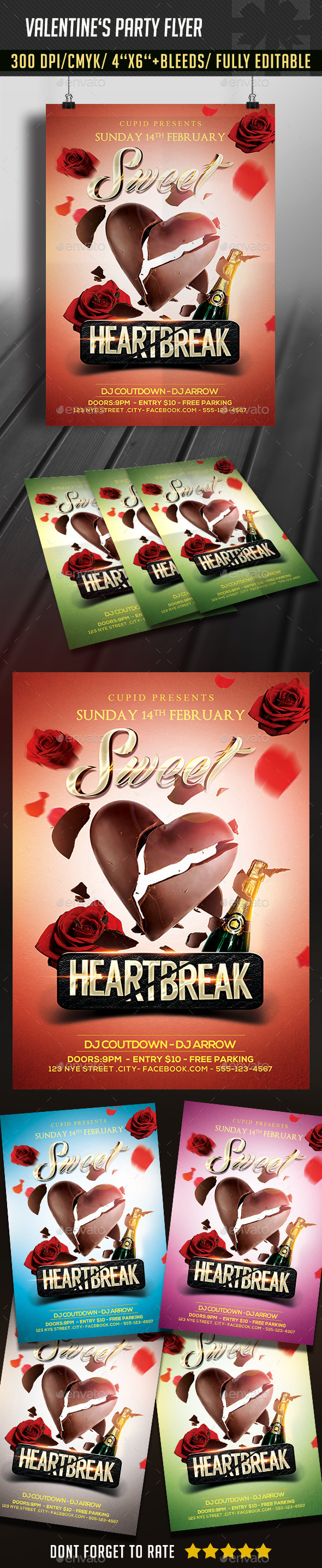 Valentine's Day Sweet Flyer - Clubs & Parties Events