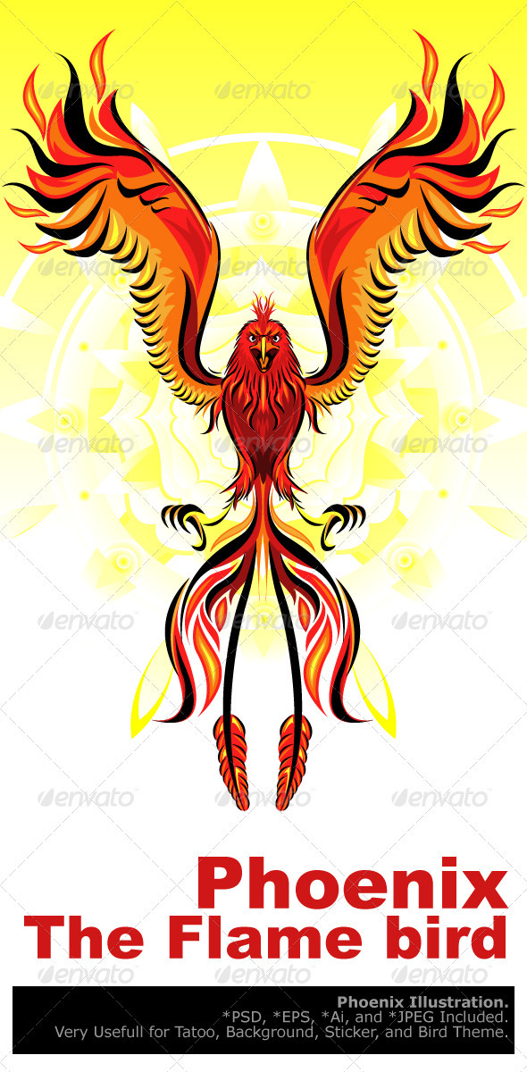 Phoenix Flame Bird - Animals Characters